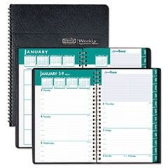 Express Track Weekly/Monthly Appointment Book, 5 x 8, Black, 2016-2017