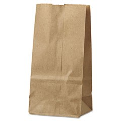 2# Paper Bag, 30lb Kraft, Brown, 4 5/16 x 2 7/16 x 7 7/8, 500/Pack