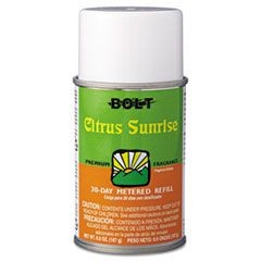 Metered Air Freshener Refill, Citrus Sunrise, 5.3oz, Aerosol, 12/Carton