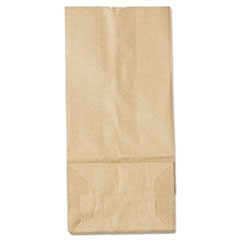 5# Paper Bag, 35lb Kraft, Brown, 5 1/4 x 3 7/16 x 10 15/16, 500/Pack