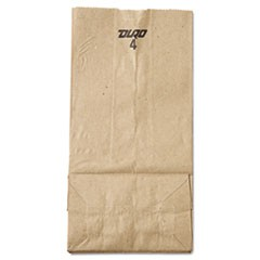 4# Paper Bag, 30lb Kraft, Brown, 5 x 3 1/3 x 9 3/4, 500/Pack