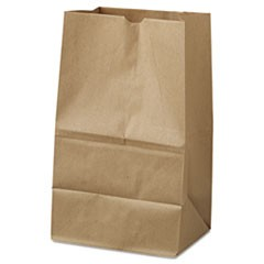 20# Squat Paper Bag, 40lb Kraft, Brown, 8 1/4 x 5 15/16 x 14 3/8, 500/Pack