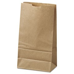 6# Paper Bag, 35lb Kraft, Brown, 6 x 3 5/8 x 11 1/16, 500/Pack
