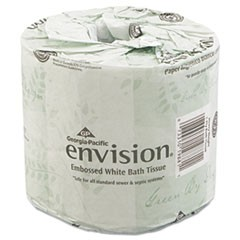 Bathroom Tissue, Septic Safe, 2-Ply, White, 550 Sheets/Roll, 80 Rolls/Carton