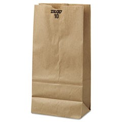 10# Paper Bag, 35lb Kraft, Brown, 6 5/16 x 4 3/16x 13 3/8, 500/Pack