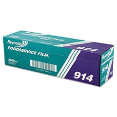 "PVC Film Roll w/Cutter Box, 18"" x 2000ft, Clear"