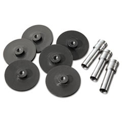1Replacement Head Punch Set, Three Heads/Five Discs, 9/32 Diameter Hole, Gray