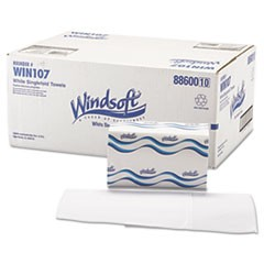 Singlefold Paper Towels, 1-Ply, 9 9/20 x 9, White, 250/Pack, 16 Packs/Carton