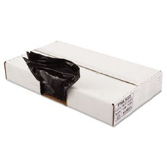 Linear Low Density Can Liner, 1.6mil, 43 x 47, Black, 10 Bags/Roll, 10 Rolls/CT