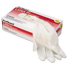 Disposable Latex Gloves, Powdered, Large, 1000/Carton