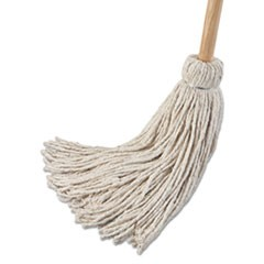 "Deck Mop; 54"" Wooden Handle, 24oz Cotton Fiber Head, 6/Pack"