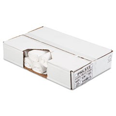 Linear Low Density Can Liners, .6mil, 33 x 39, White, 25 Bag/Roll, 6 Rolls/CT