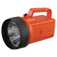 WorkSAFE Waterproof Lantern, 6 V Battery (Not Included), Orange/Black