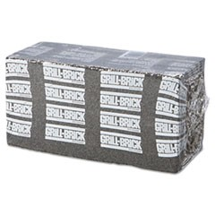 Grill Brick, 8 x 4, Black, 12/Carton