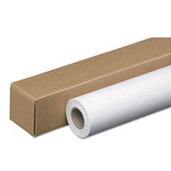 "Amerigo Wide-Format Paper, 3"" Core, 48 lb, 24"" x 100 ft, Coated White"