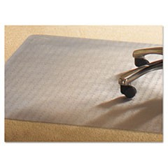 PVC Chair Mat for Standard Pile Carpet, 46 x 60, No Lip, Clear