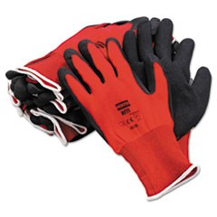 NorthFlex Red Foamed PVC Gloves, Red/Black, Size 10XL, 12 Pairs