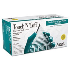 Touch N Tuff Nitrile Gloves, Teal, Size 8 1/2 - 9, 100/Box