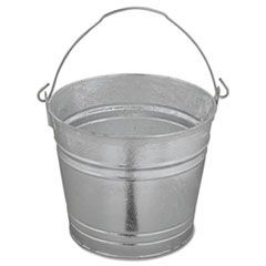 Galvanized Pail, 12qt, Steel, 12/Box