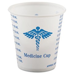Paper Medical and Dental Graduated Cups, 3 oz, White/Blue, 100/Bag, 50 Bags/Carton