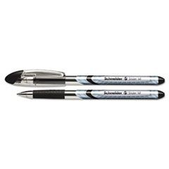 Slider Ballpoint Pens, Stick, .8 mm, Medium, Black, 10/Box