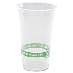 GreenStripe Renewable & Compostable Cold Cups - 24oz., 50/PK, 20 PK/CT