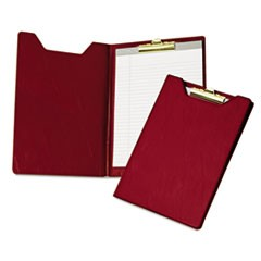 Value Padfolio, Heavy Vinyl, Brass Clip, Writing Pad, Inside Pocket, Burgundy