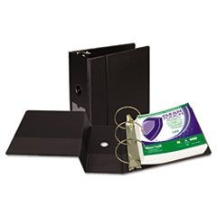 "Clean Touch Antimicrobial Locking Round Ring Binder, 11 x 8-1/2, 5"" Cap, Black"