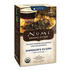 Organic Teas and Teasans, .125oz, Emperor's Puerh, 16/Box