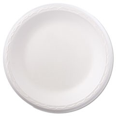 "Foam Dinnerware, Plate, 8 7/8"" dia, White, 125/Pack, 4 Packs/Carton"