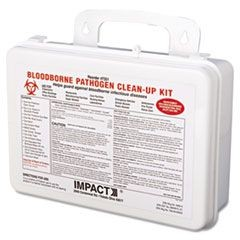 Bloodborne Pathogen Cleanup Kit, OSHA Compliant, Plastic Case