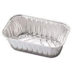 Aluminum Baking Pan, #1 Loaf, 5 23/32 x 3 5/16 x 2 1/32, 200/Carton