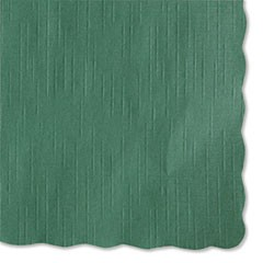 Solid Color Scalloped Edge Placemats, 9.5 x 13.5, Hunter Green, 1,000/Carton