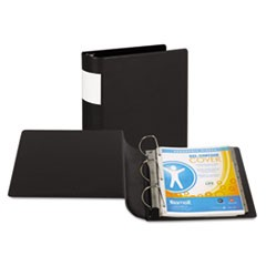 "DXL Heavy-Duty Locking D-Ring Binder With Label Holder, 4"" Cap, Black"