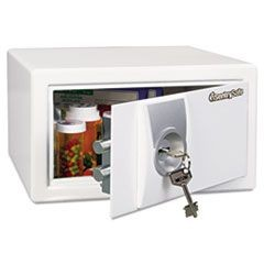 Med Series Safe, 0.31 ft3, 11-2/5w x 10-2/5d x 6-3/5h, White