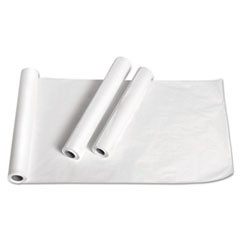 "1Exam Table Paper, Deluxe Crepe, 18"" x 125ft, White, 12 Rolls/Carton"