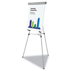 "Telescoping Tripod Display Easel, Adjusts 35"" to 64"" High, Metal, Silver"