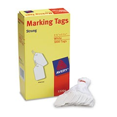 White Marking Tags, Paper, 1 3/4 x 1 3/32, White, 1,000/Box
