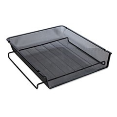 "Deluxe Mesh Stackable Front Load Tray, 1 Section, Letter Size Files, 11.25"" x 13"" x 2.75"", Black"
