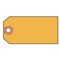 Shipping Tags, Paper, 4 3/4 x 2 3/8, Yellow, 1,000/Box