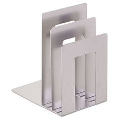 Soho Bookend with Squared Corners, 5�w x 7�d x 8�h, Silver