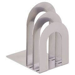 "Soho Bookend with Curved Corners, 5""w x 7""d x 8""h, Silver"