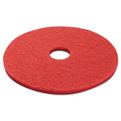 Standard 17-Inch Diameter Buffing Floor Pads, Red