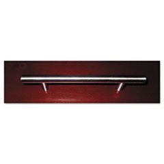 Bar-Style Door/Drawer Handle, Tubular Steel, 6w x 1d x 1/4h, Polished Chrome