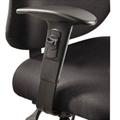 Height/Width-Adjustable T-Pad Arms for Alday 24/7 Task Chair, Black, 1 Pair