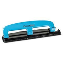 12-Sheet Capacity ProPunch Compact Three-Hole Punch, Rubber Base, Blue/Black