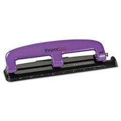 12-Sheet Capacity ProPunch Compact Three-Hole Punch, Rubber Base, Purple/Black