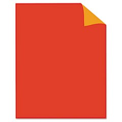Two Cool Poster Board, 22 x 28, Fluorescent Red/Fluorescent Orange. 25/PK