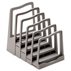 Adjustable File Rack, Five Sections, 8 x 10 1/2 x 11 1/2, Gray