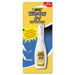 Wite-Out 2 in 1 Correction Fluid, 15 ml Bottle, White